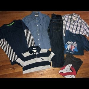 8-9 Lucky Levi's A&F 7p Boys Jeans Shirts Sweater